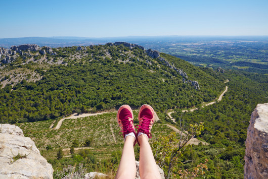 Les Dentelles de Montmirail : randos, sentiers vélo et VTT, escalade…