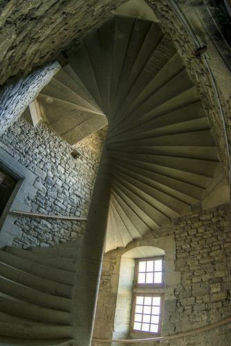 Escalier du Château du Barroux